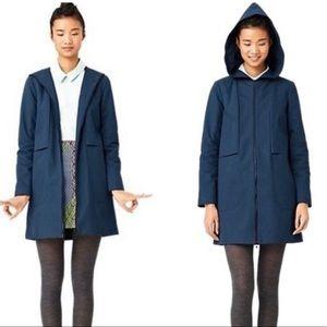 Kate Spade Blue Raincoat Jacket With Hood